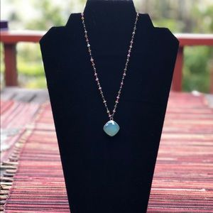 Labradorite and Rough Crystal NecklaceNWT, used for sale
